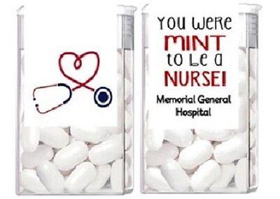 Nurse Party Favors (Nurse Appreciation Graduation Mint Mints Party Favors Labels)