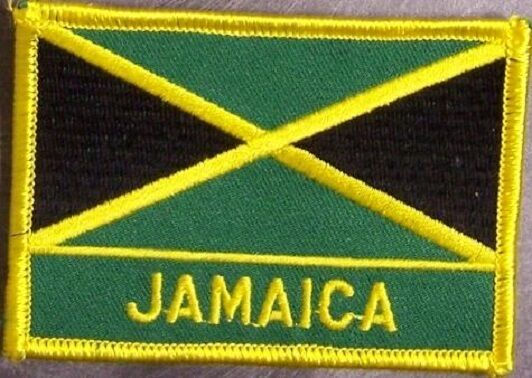 Embroidered International Patch National Flag of Jamaica NEW flag