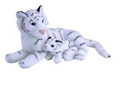 Wild Republic 19402 Tigre Blanco Con Bebé 30 CM Animales Salvajes de...