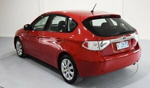 2008 Subaru Impreza G3 MY09 R AWD Red 5 Speed Manual Hatchback Invermay Launceston Area Preview