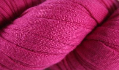 Recycled T-Shirt Yarn- Magenta, used for sale  Lawrenceville