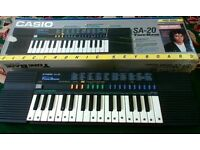 *£20* Casio SA-20 Electronic Keyboard 100 Sound ToneBank, Boxed and Fully Working Collectors item