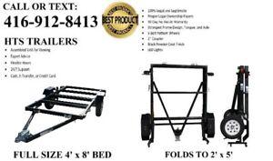 Folding Trailer : utility,motorcycle,snowmobile,atv,boat,bike