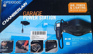 Garage Power Station, Air compressor and light. BRAND NEW IN BOX