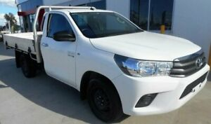 2015 Toyota Hilux GUN123R SR White 5 Speed Manual Cab Chassis Singleton Heights Singleton Area Preview