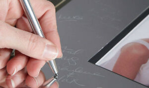 Signature Photo Frame Guest Book & Pen Engraved Alloy Mat Wedding Anniversary