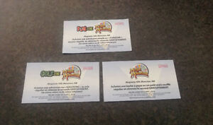 ******3 BOGO Coupons (Crystale Palace, Golf, Popcorn)******