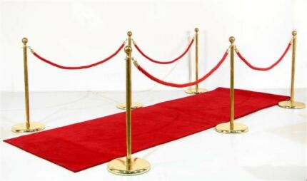 Red Carpet Bollards $190 HIRE