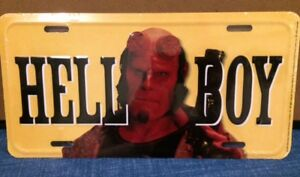 HELLBOY TIN LICENSE PLATE NEW