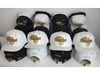 RENATUS DESIGNER BASEBALL CAP GOLD PLATED STRAP - ADJUSTABLE - (WHITE)