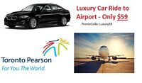 Luxury Car Ride to Airport from Oakville- Only $59