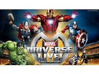 2 x Tickets - Marvel Universe Live - Sheffield Area. Saturday 21 Jan 2017. 19:00 Show.