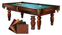 Custom Made Solid Wood Pool Table