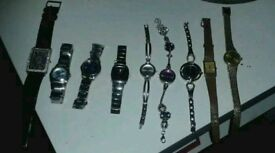 9 various watches