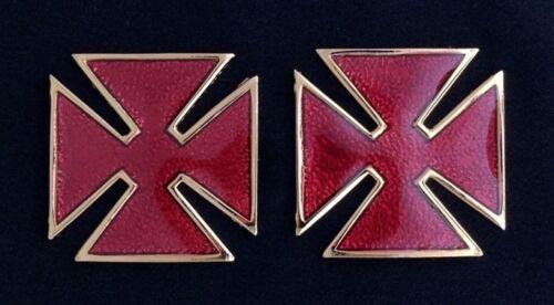 Grand Commandery Metal Collar or Sleeve Cross (Pair) - (RKT-27R)