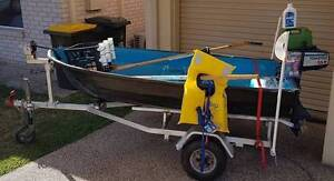 Small Dinghy with 3.5 HP Outboard on trailer Registered For 6 mth Wynnum Brisbane South East Preview