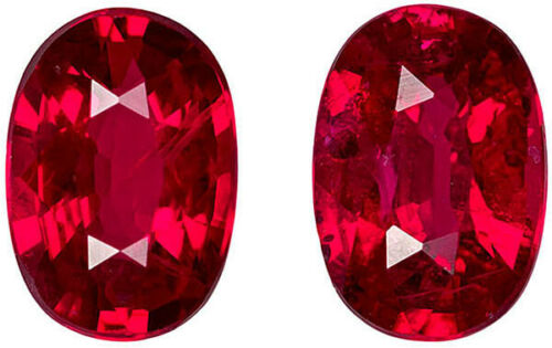 3.7cts Certified Top Luster Natural Normal Heat Red Ruby Pair Loose Gemstone
