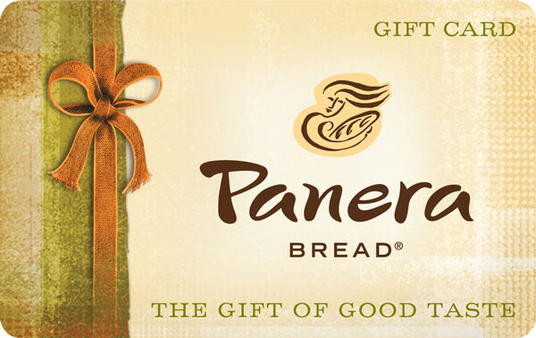 $10 / $25 Panera Bread Physical Gift Card - Standard 1st Class Mail Delivery