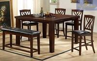 NEW Seven piece counter height table set for sale (2216)