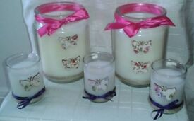 Set of 5 Scented Candles