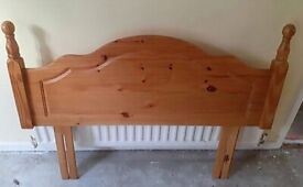 Solid pine double bed headboard
