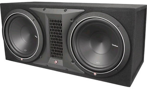 "Rockford Fosgate P 300-1 AMP, Two 10"" P1 SUBS and SEALED SUB BOX"