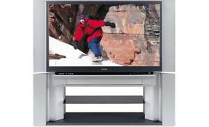 62 inch Toshiba Rear Projection TV with Stand and 2 HDMI Ports