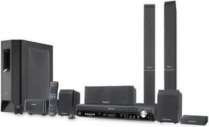 5-DVD Changer Home Theater System with Panasonic iPod Dock