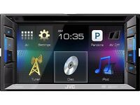 JVC KW-V11 6.2-inch WVGA Touch Panel Monitor with DVD/CD/USB Receiver