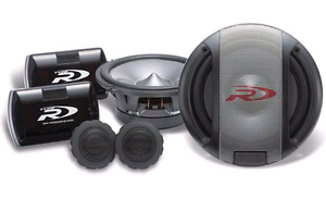 "Alpine Type-R 6""x 1/2"" 2 way Component Speakers Used."