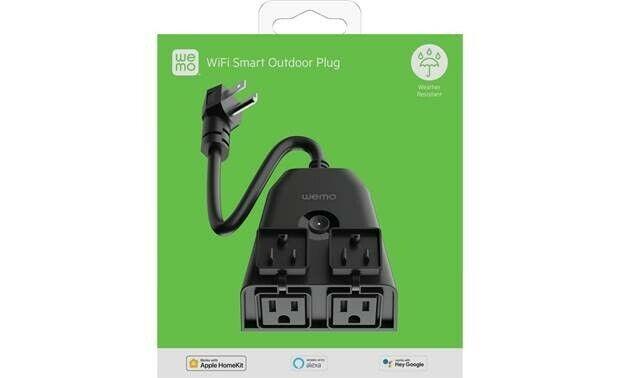 Wemo WiFi Smart Outdoor Plug - Black