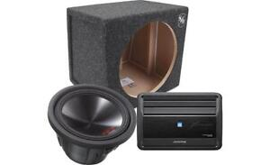 Alpine Type R Sub and Amp Combo - Installation Included!