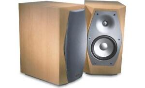 INFINITY INTERLUDE IL10 SPEAKERS in Maple finish - MINT!!