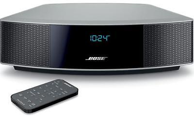 BOSE WAVE RADIO IV AM/FM AUX W/ REMOTE SILVER 738028 Factory Renewed W/ Warranty