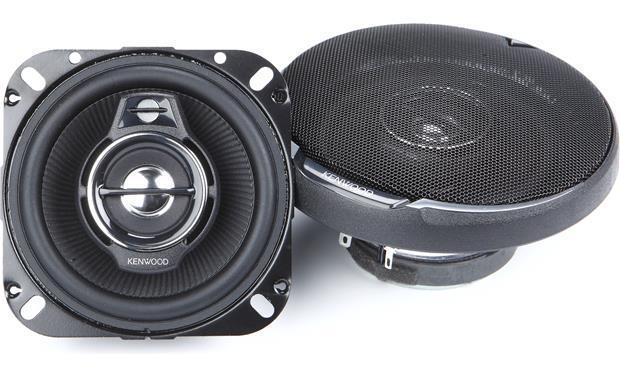 "NEW  Kenwood 4"" 3-way Car Audio Speakers.4 ohm four inch Ste"