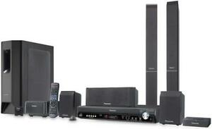 5- DVD Panasonic Home Theatre System + Wifi speakers & Ipod dock