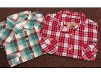 Two Men's Next Short Sleeved Check Shirts Ideal For Summer Hols Size 2xl