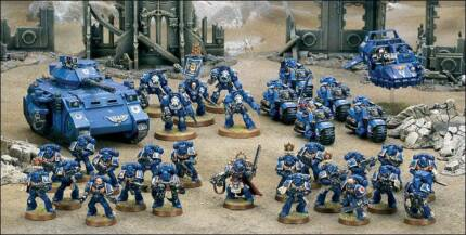 Mixed box of Warhammer + Warhammer 40k Space Marines, Dwarves ETC Salisbury Downs Salisbury Area Preview