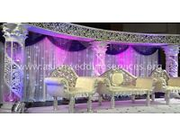 Asian Wedding Stages from £299 - Mehndi Stages | Wedding Stages | Crystal Stages | Chair Covers