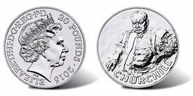 £20 Silver Coin Sir Winston Churchill Royal Mint