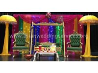 Mehndi Stages - Asian Wedding Stages - Mehndi Events - Mehndi Swing Hire