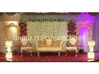 Asian Wedding Stage Hire - Mehndi Stages | Wedding Stages | Crystal Stages | Chair Covers