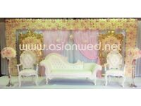 Asian Wedding Stage Hire - Mehndi Stages   Wedding Stages   Crystal Stages   Chair Covers