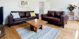 2 Large Leather Sofas - Great Condition