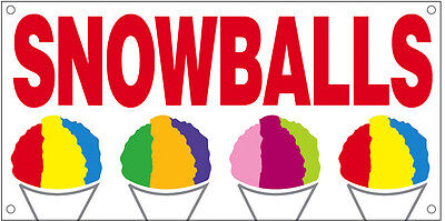 Snowballs Vinyl Banner Sign 2x4 Ft - Wb
