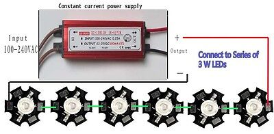 6x3 W Led With Constant Current Driver Kit. Diy Item