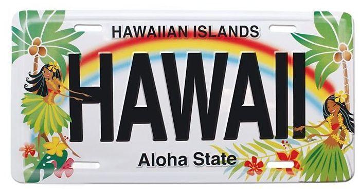 Hawaiian Hula Honeys Hawaii Novelty License Plate Island Decor Tiki Bar