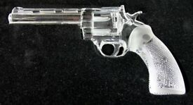 Very Rare - Cristalleries Royales de Champagne Lead Crystal .357 Magnum Gun – Full Size Replica
