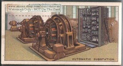 Metropolitan Vickers Automatic Electrical Substation 90 Yo Ad Trade Card