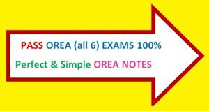 OREA NOTES all  6  Courses  Perfect &  Simple